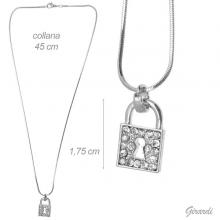 Necklace With Strass Padlock1.75 Cm