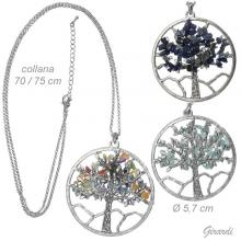 Tree Of Life Chain Necklace With Hard Stones