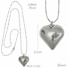 Necklace With Heart Pendant 78cm