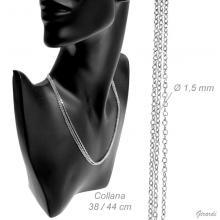 Collana Tripla Girocollo Di Bigiotteria 40-46cm