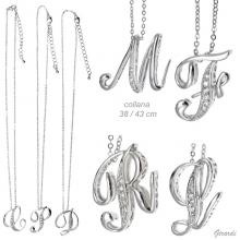 Necklace With Letter And Zirconia