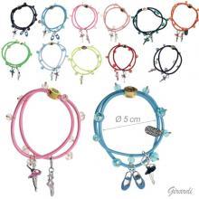 Fluo Elastic Bracelet - Ballerina Pendants