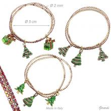 Elastic Bracelet, Christmas Charms And Strass