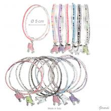 Double Elastic Bracelet Of Strass With Pedant Of Roller Skating Shoes
