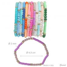Elastic Crystal And Strass Bracelet