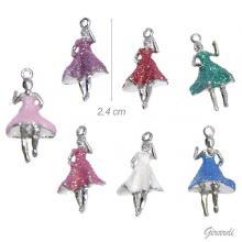 Pendant With Glitter Ballerina