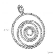 Circles Pendant With Strass (net Price)