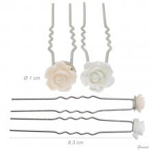 Hair Pins For Hairstyle With Flower 1cm