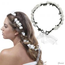Hair Decoration Wreath Crown With Rubber Flowers