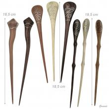 Wooden Hair Pin With Silver Decoration 19,5cm