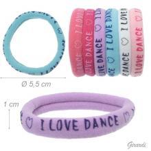 Elastico -bracciale in Polierstere e Elastan I Love Dance