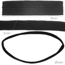 Fascia-elastico Nera per Testa 19cm X 8mm