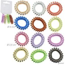 Spiral Hair Tie Metallic Colors 3,5cm