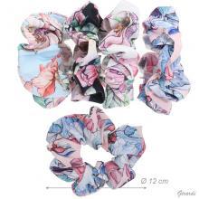 Elastico Fermacoda In Tessuto Colori Floreali