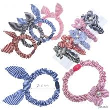 Fabric Hair Scrunchie With Bow Or Flower