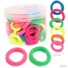Elastico Fermacoda Colori Fluo Box 80 Pz