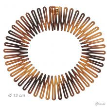Circular Hair Comb In Tortoise Shell Plastic 12 Cm
