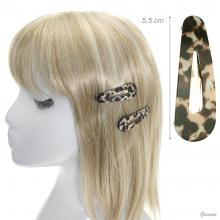 Metal Spotted Snap Hair Clips 5,5cm