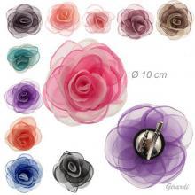 Becco Spilla Metallo Con Fiore Bicolore