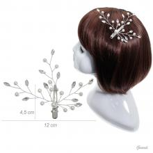 Pearls And Strass Crocodile Clip For Hairstyles