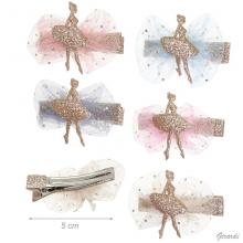 Hair Clip With Glitter Ballerina On Tulle