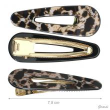 Crocodile Clip In Spotted Metal