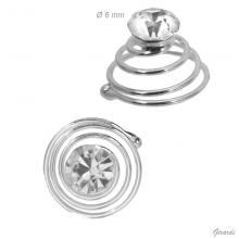 Punto Luce A Spirale 6 Mm Decorativo Per Capelli