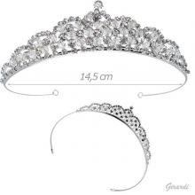 Tiara With Crystal And Rhinestones
