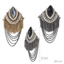 Orecchini Con Cristalli Di Vetro E Perline
