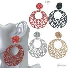 Fashion Earrings With Strass Circle