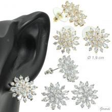 Orecchini Cristallo Di Neve Con Zirconi