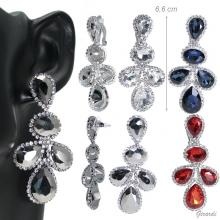 Earrings With Drop Strass