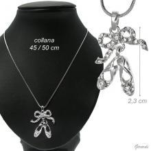 Collana con Pendente Scarpine Ballerina 2,3 Cm