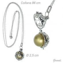 Necklace With Openable Ball And Bell