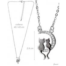 Necklace With Kittens And Zirconia