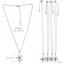 Set 4 Chain Necklaces Puzzle Piece + Ballerina