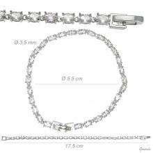 Metal Bracelet With White Zirconia