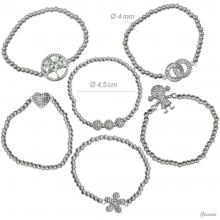 Elastic Bracelet And Zirconia