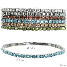 Metal Bracelets With 3mm Strass
