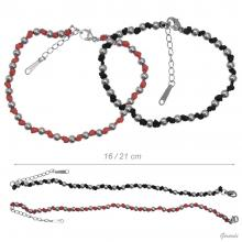 Cord Bracelet And Steel Beads