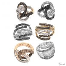 Elasticized Rings With Strass