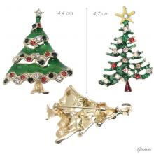 Christmas Tree Brooch With Strass