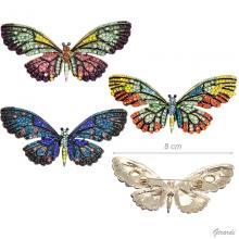 Spilla Farfalla Con Strass