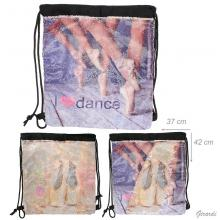 Drawstrig Backpacks Ballerina With Paillettes Double Face-dance