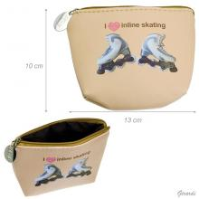 Faux Leather Purse With Inline Skating Shoes