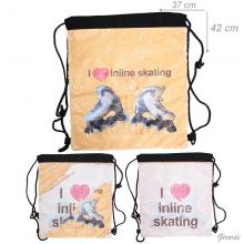 Backpack Double Face Of Pailettes Inline Skating