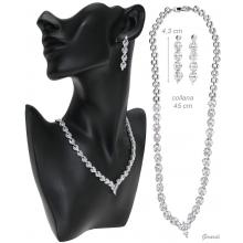 Necklace And Earrings Set With Zirconia