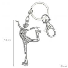 Key Ring With Roller Skater Figure