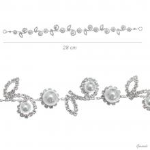 Decorative Hair Pins With Flowers And Leaves 28 Cm