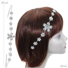 Decorative Hair Pins With Rhinestone Flowers